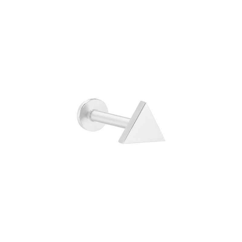 Flat Triangle Labret Piercing- 14K Gold