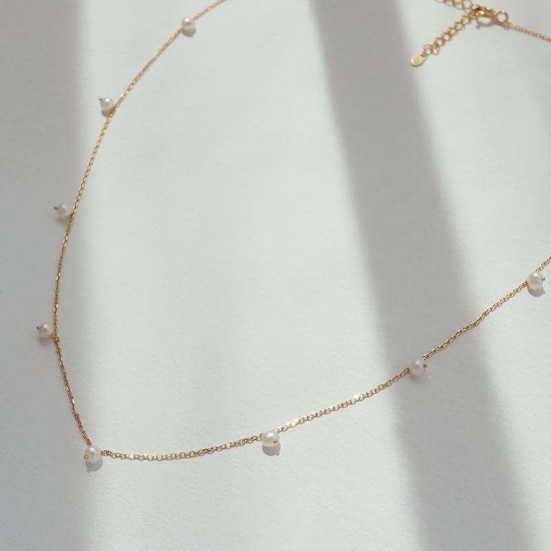 Pearl Drip Necklace- Sterling Silver