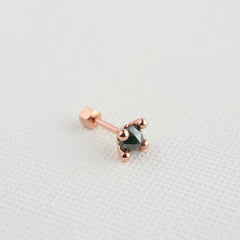Dot Satellite Gemstone Cartilage Earring- 14K Gold