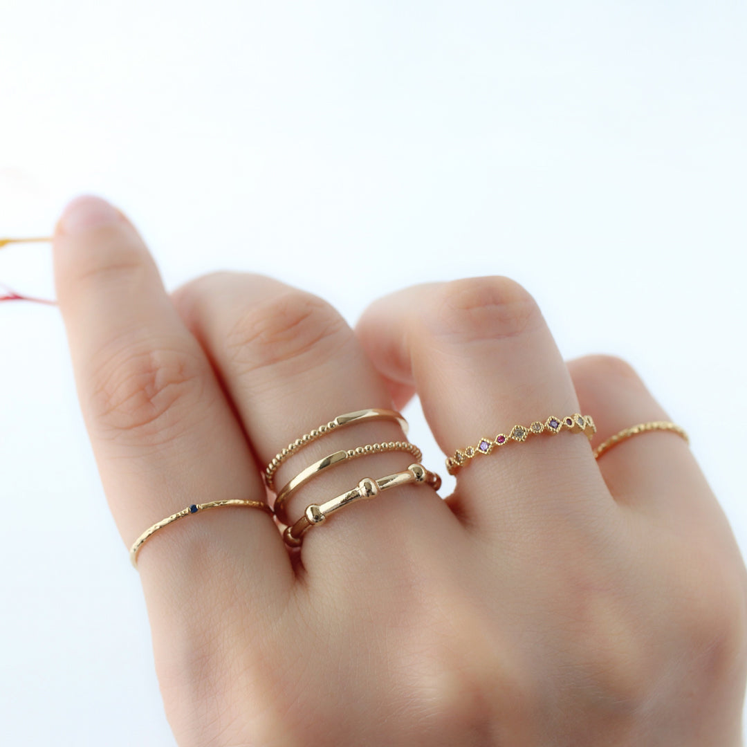 delicate stackable rings made from 925 silver