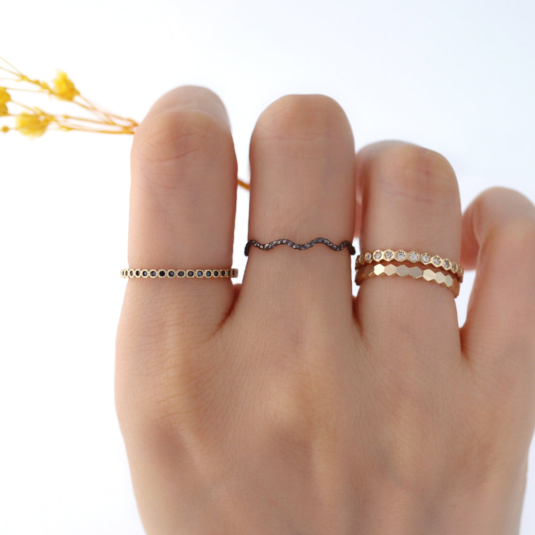 gold delicate stacking rings