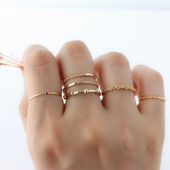 925 silver stackable rings with gold plated
