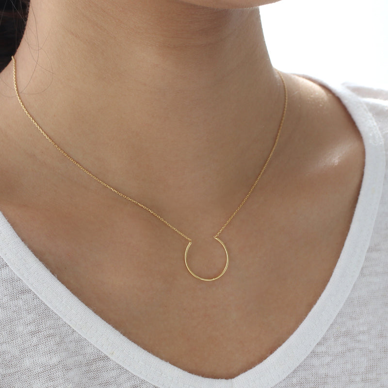 Half Circle Necklace- Sterling Silver