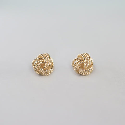 Tie The Knot Stud Earrings