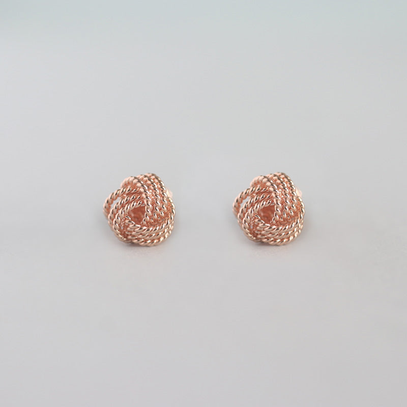 Tie The Knot Studs- Sterling Silver