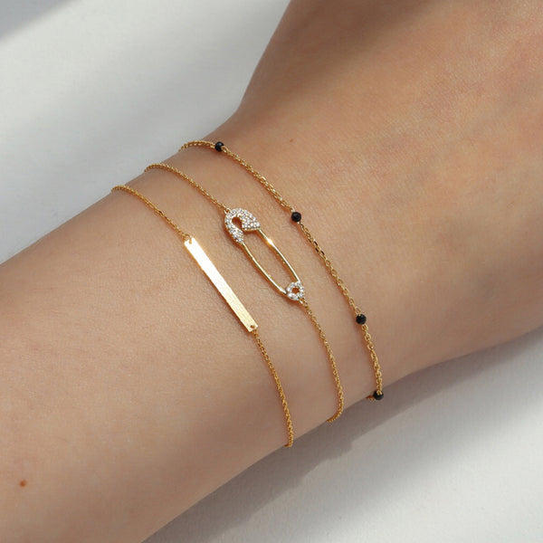 Safety Pin Bracelet- Sterling Silver