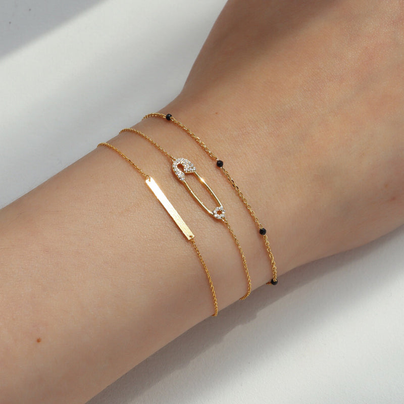Slim Bar Bracelet- Sterling Silver