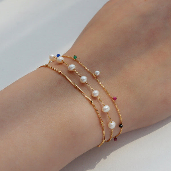 Satellite Chain Bracelet- Sterling Silver