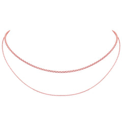 Layered Double Chain Choker- Sterling Silver