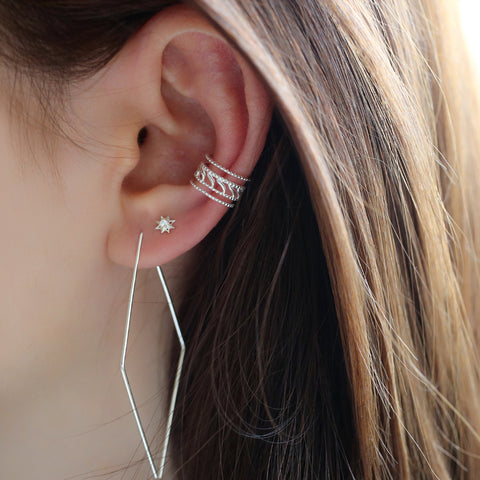 layered ear cuff earring in conch