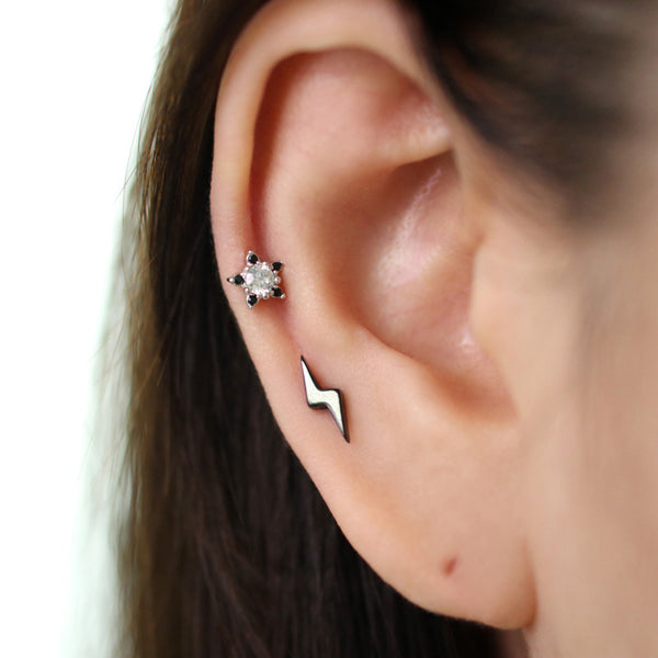Lightning Bolt Cartilage Piercing- Stainless Steel