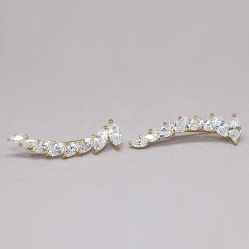 Marquise Crystal Ear Climbers