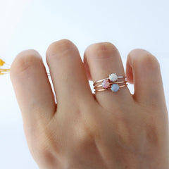 opal rings made in 925 sterling silver