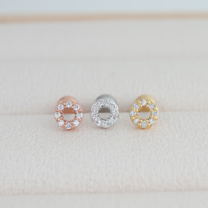 CZ Circle Cartilage Earring