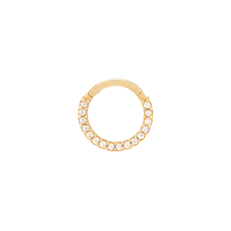 Pave Gems Clicker Ring- 14K Gold