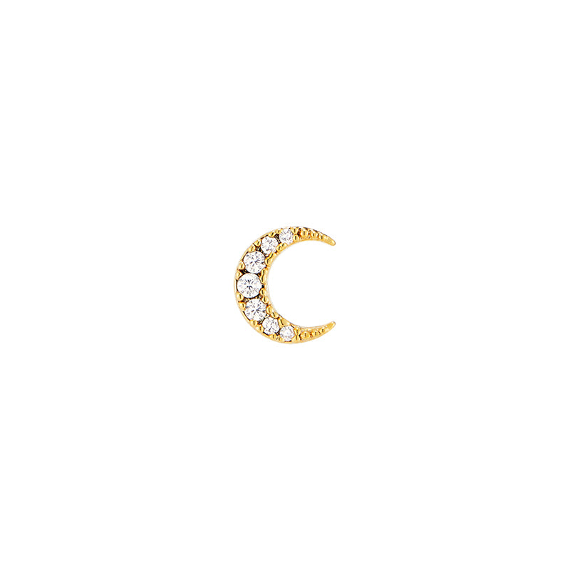 Pave Moon Cartilage Piercing