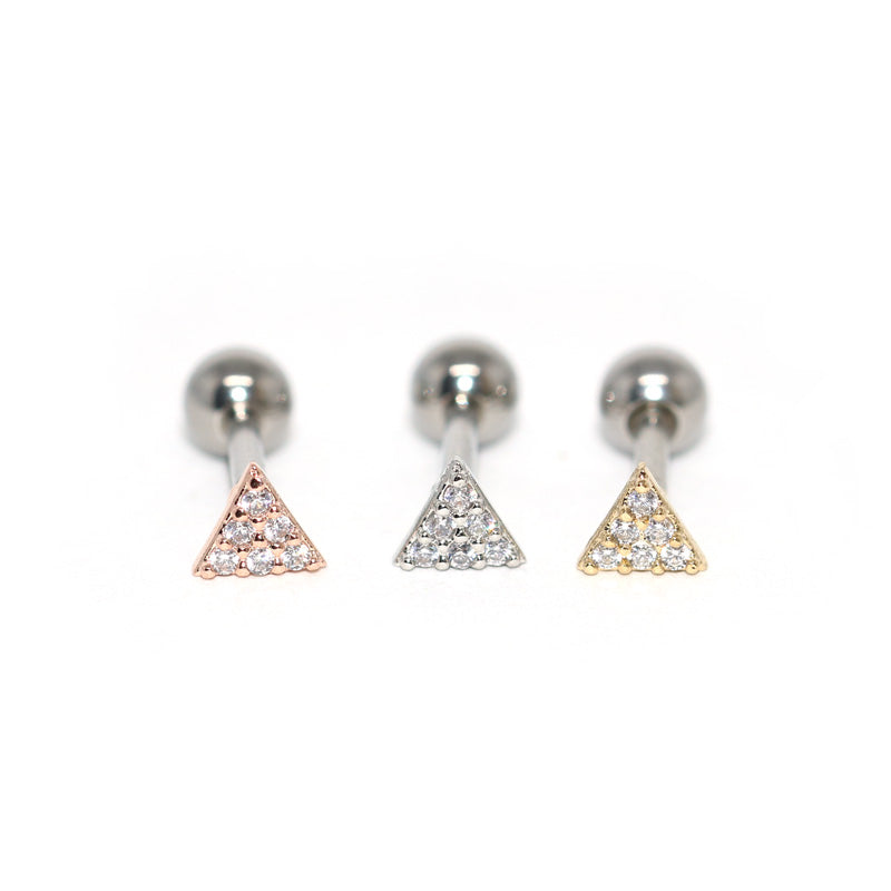 CZ Triangle Cartilage Piercing