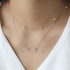 Safety Pin Necklace- Sterling Silver