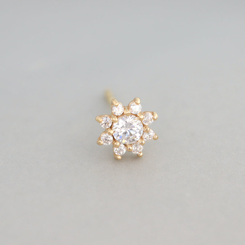 Shine Sunflower Stud- 14K Gold
