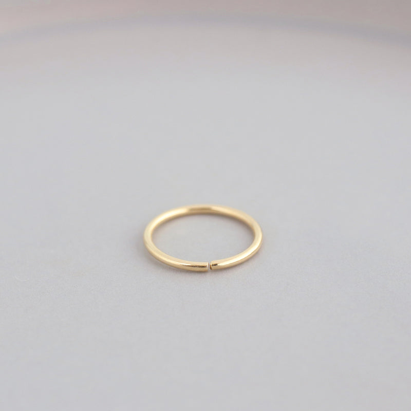 Simple Huggie Hoop- 10K Gold