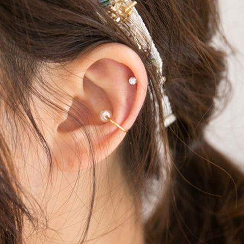 no piercing required pearl ear cuff