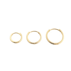 14K Gold Slim Sleeper Hoop Earring