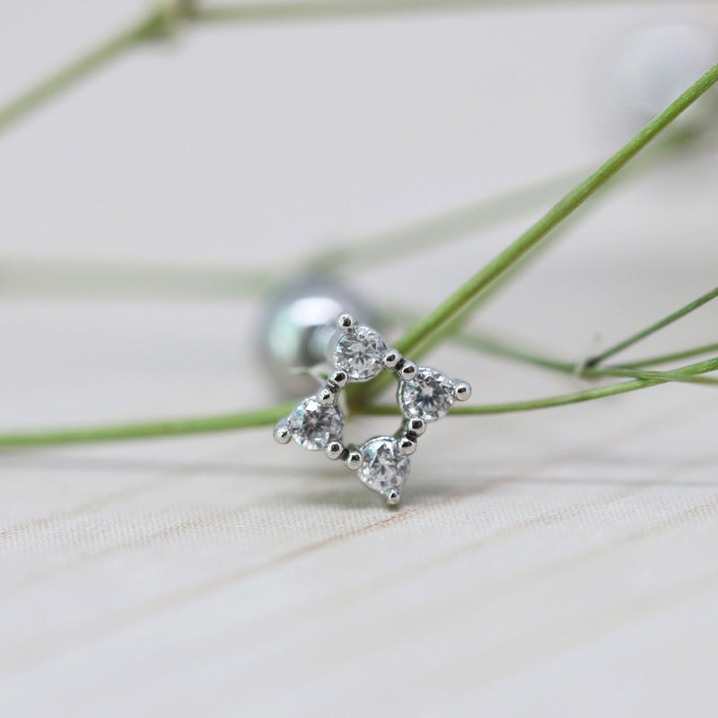 CZ Square Cartilage Earring