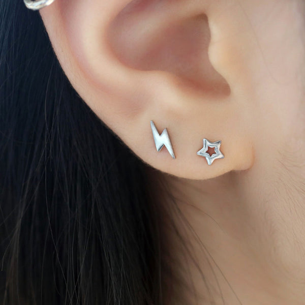 Lightning Bolt Cartilage Piercing- 316L Stainless Steel