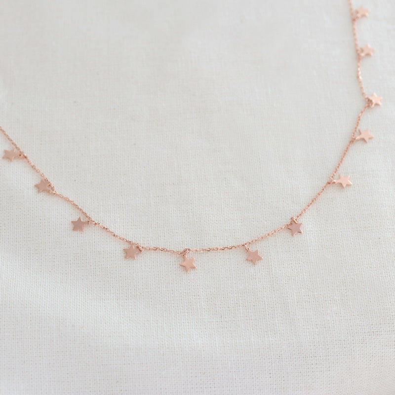 Star Chain Necklace- Sterling Silver