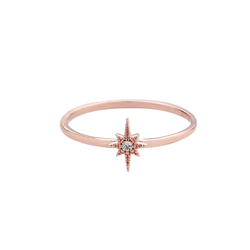 starburst sterling silver ring