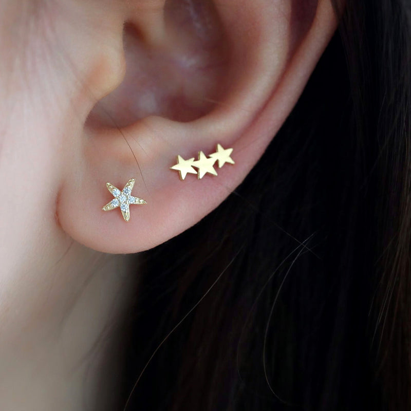 Starfish Stud Piercing- 14K Gold