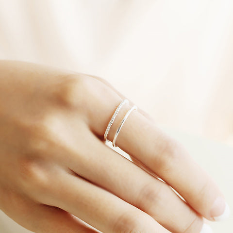Double Band Ring- Sterling Silver