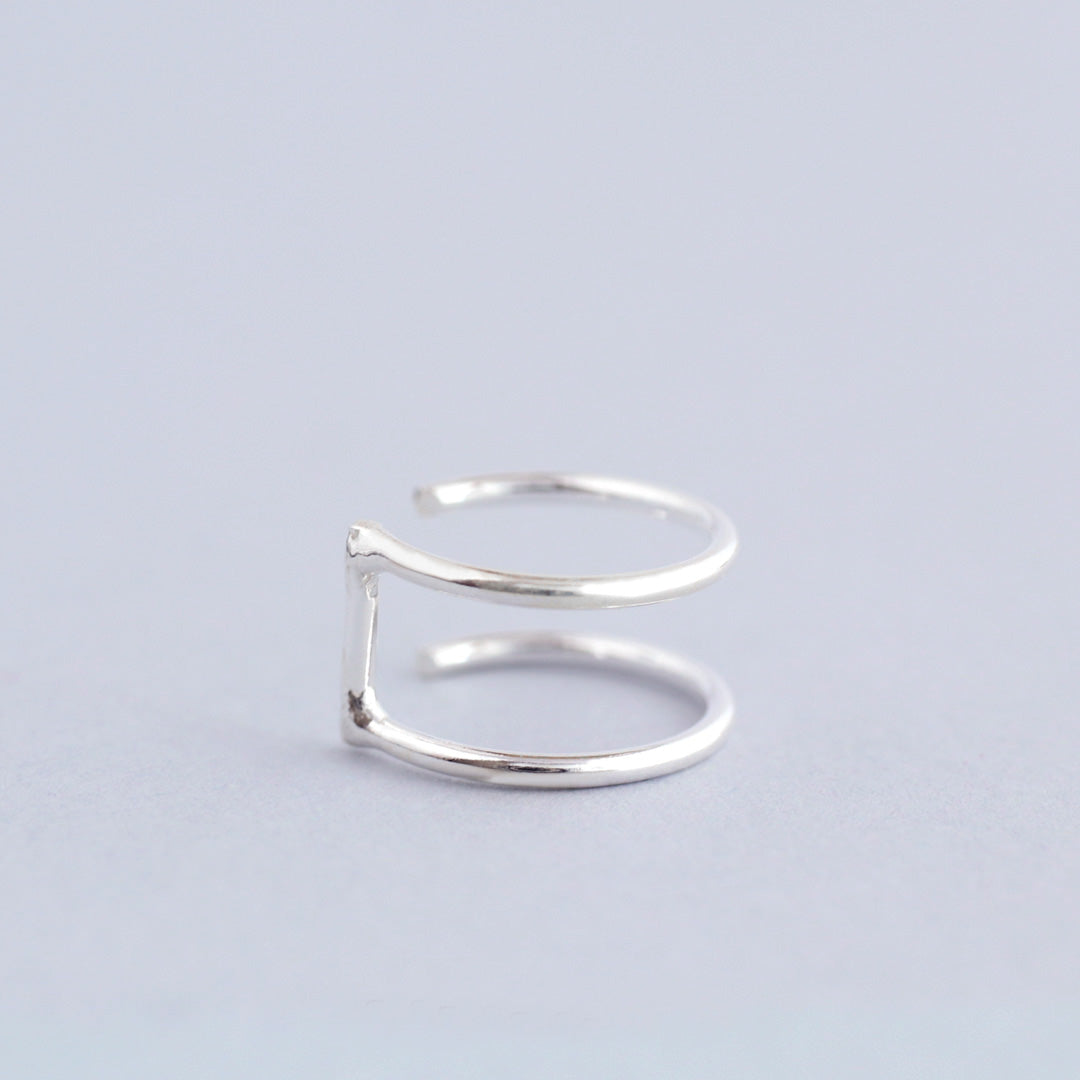 Double Band Ear Cuff- Sterling Silver
