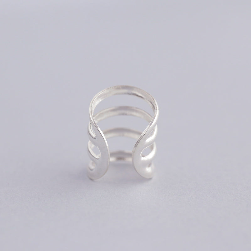 Four Line Ear Cuff- Sterling Silver