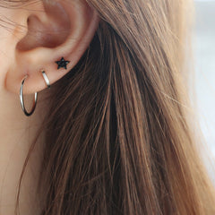Simple Everyday Hoops- Sterling Silver