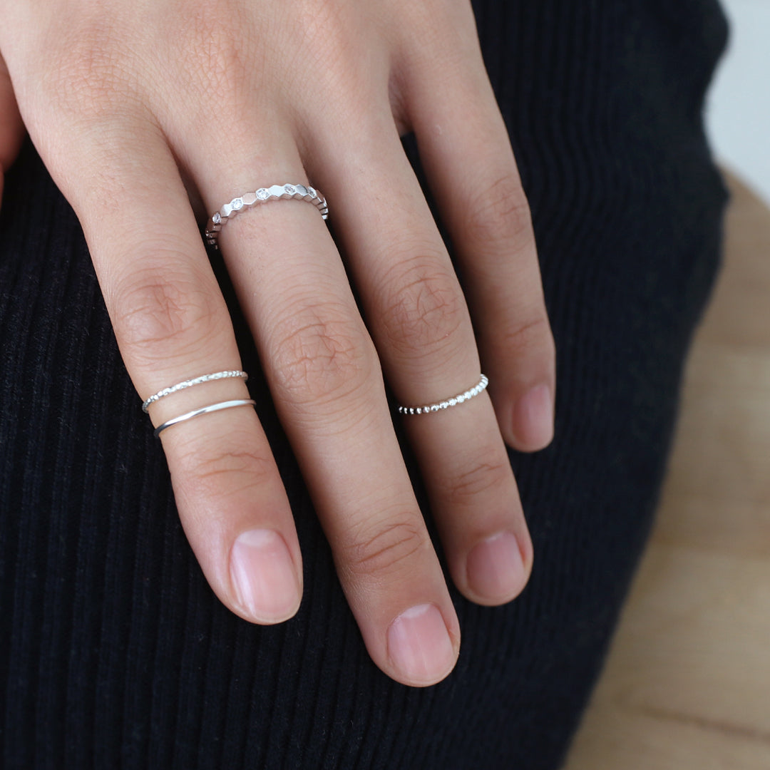 Basic Thin Round Band- Sterling Silver
