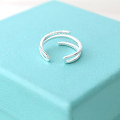 Triple Line Ring- Sterling Silver