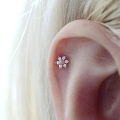 Sunflower Cartilage Stud Earring