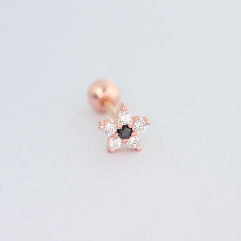 Petite Flower Stud Ear Piercing- 14K Gold