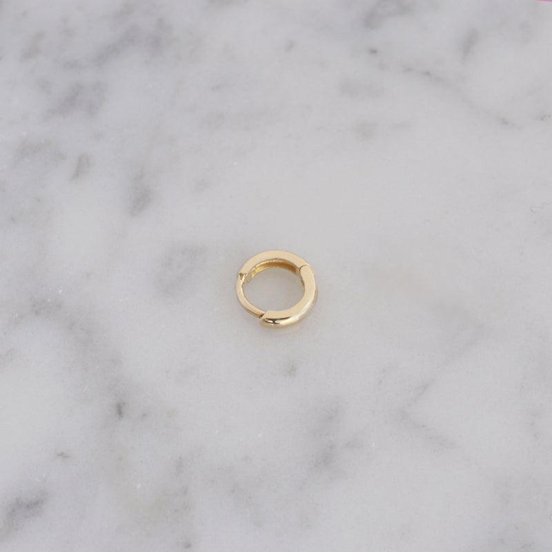 Tiny Cartilage Huggie Hoop- 10K Gold