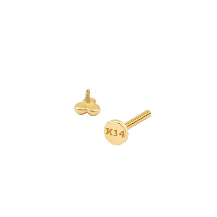 Ball Trinity Labret Piercing- 14K Gold