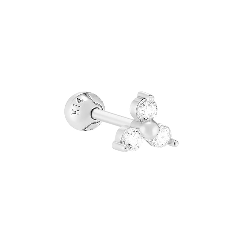 Trinity CZ Cartilage Piercing- 14K Gold