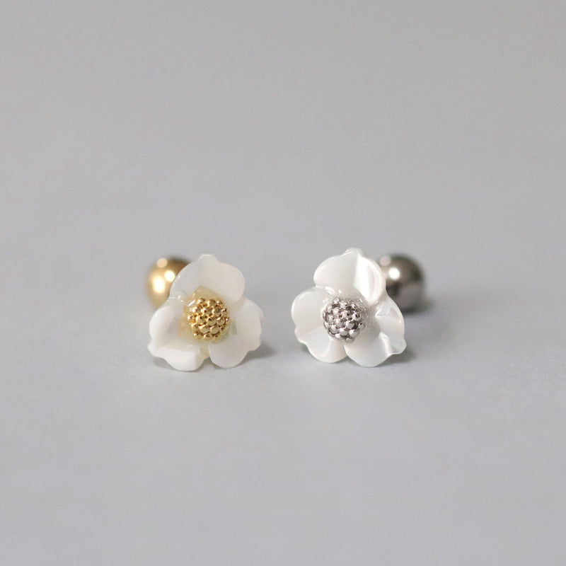 Mother of Pearl Flower Piercing