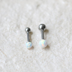 16g Opal Ball Cartilage Earring