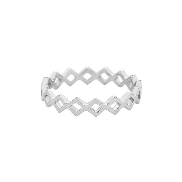Stackable Chain Band Ring Made From Sterling Silver
