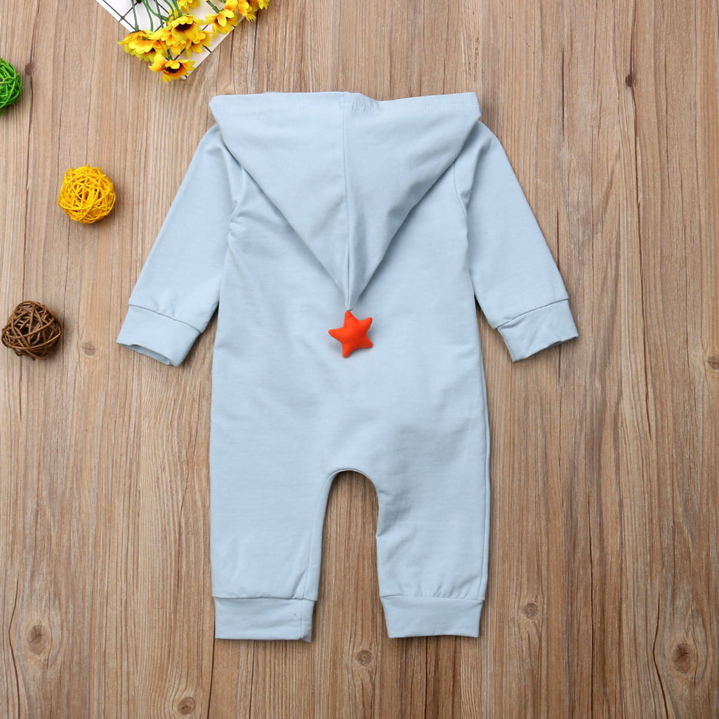 Unisex Hooded Zipped Rainbow Romper