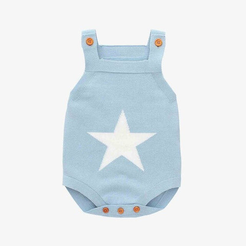 Baby Boy Vintage Style Knitted Star Romper