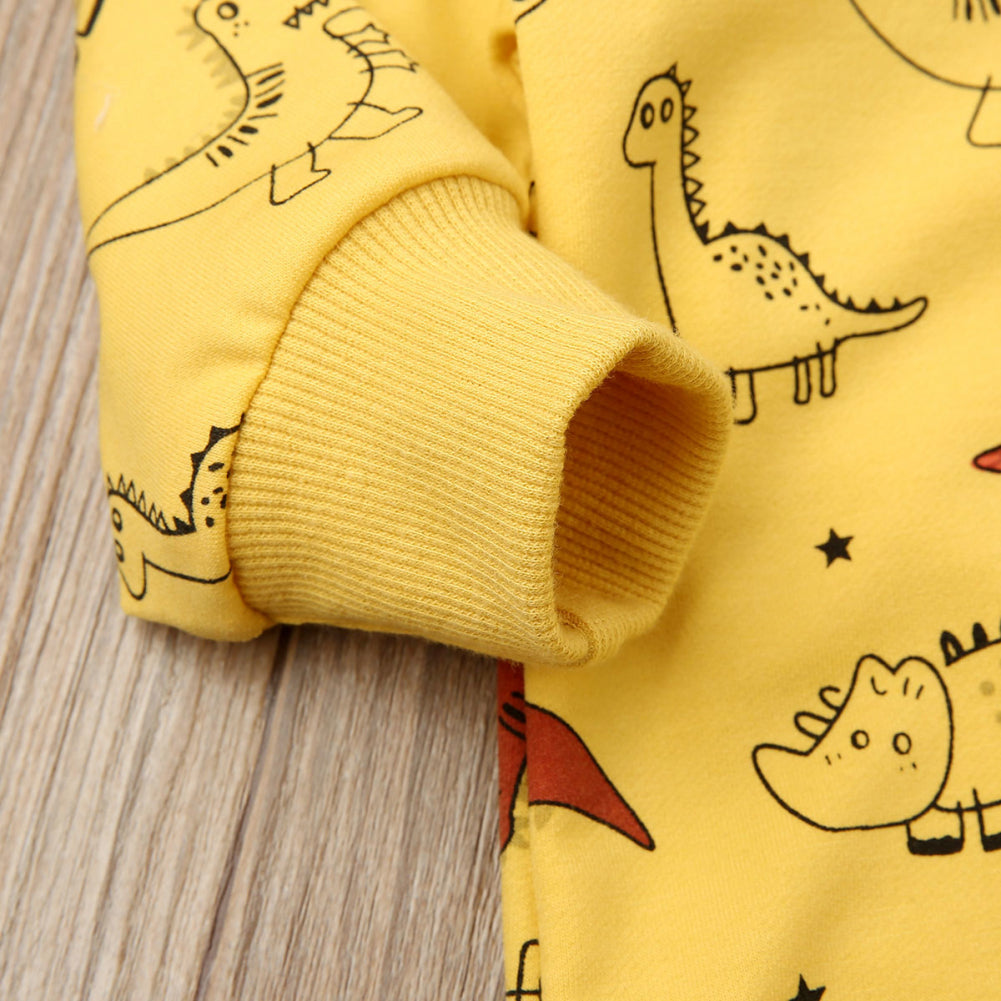 Baby Boy Cartoon Dinosaur Romper