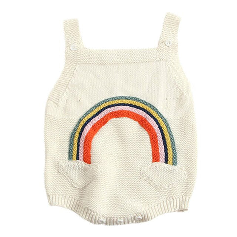 Unisex Knitted Rainbow Romper