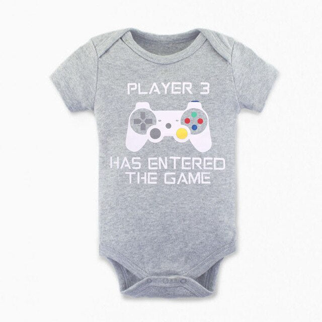 "Unisex Printed Bodysuit ""Player 3 Has Entered The Game"""